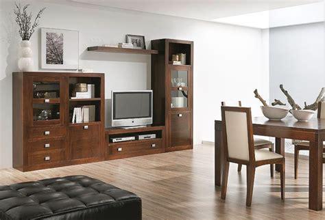 muebles  salon comedor madera nogal muebles de