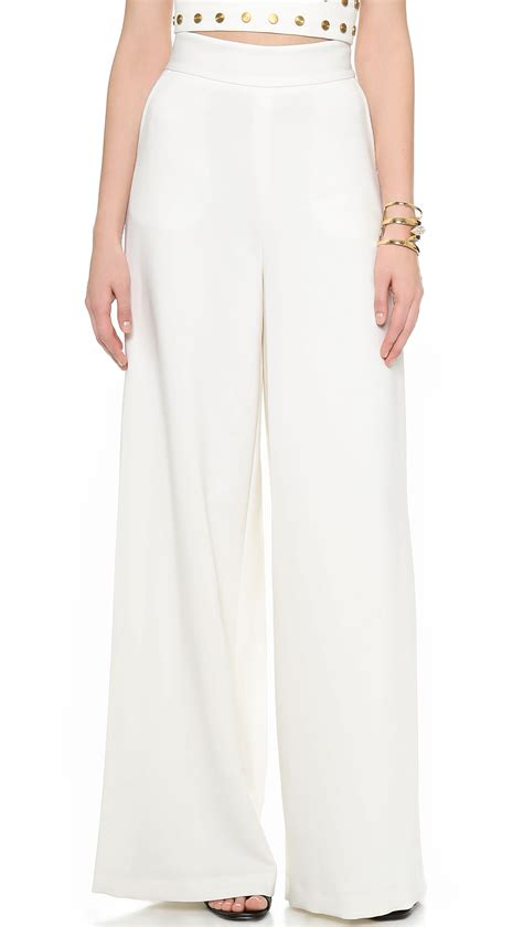 Highwaist Pant White zoe smith high waisted in white soft white