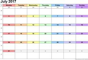 Calendar 2015 July Template July 2017 Calendar Printable July 2017 Calendar Template