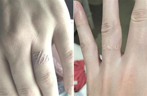 wedding ring finger tattoos give up your engagement ring for wedding ring tattoos