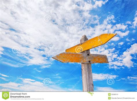 Mrc Carson Blue Sky rustic crossroads sign stock photo image 55398741