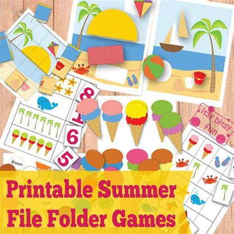 printable file folder games for kindergarten free printable summer file folder games math pinterest