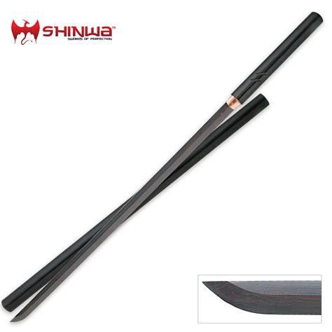 steel sword shinwa black nodachi damascus steel sword