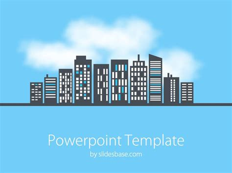 Cityscape Powerpoint Template Slidesbase City Powerpoint Template