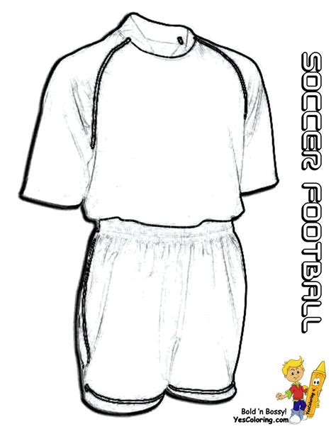 free coloring pages of blank soccer jersey