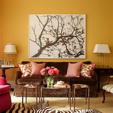 chocolate brown and red living room love the brown couch with the pink pillows and love love