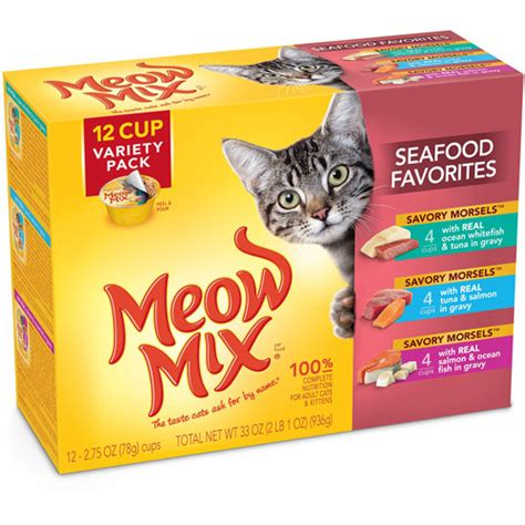 Meow Mix Kitten meow mix savory morsels seafood favorites cat food