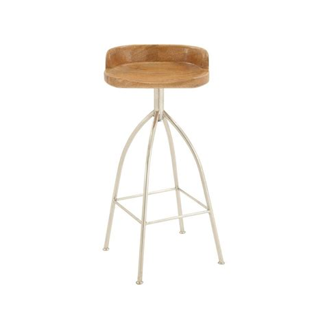 Iron Bar Stool With Wood Seat by Wood Seat Bar Stool Home Ideas
