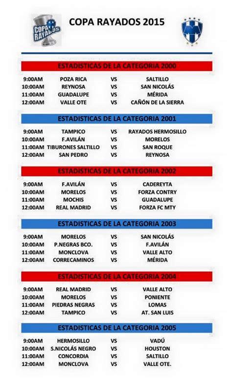 Calendario De Rayados 2015 Calendario Cuartos De Copa Rayados 2015 Sitio
