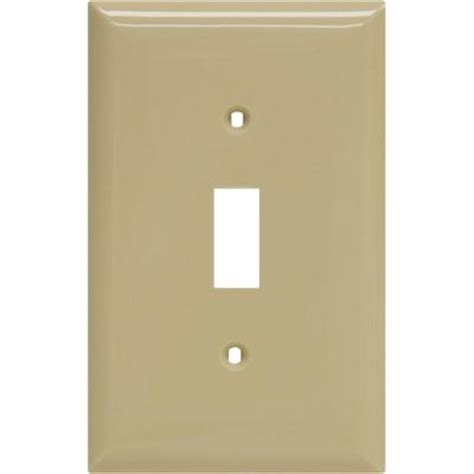 ge 1 toggle switch wall plate ivory 40034 the