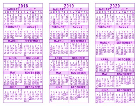 three year calendar template 100 calendar template 2017 2018 year 2018 2019 2020 3
