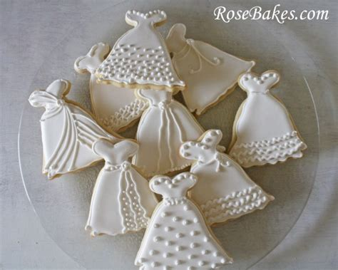 easy bridal shower cookie recipes wedding dress cookies roll out sugar cookie recipe