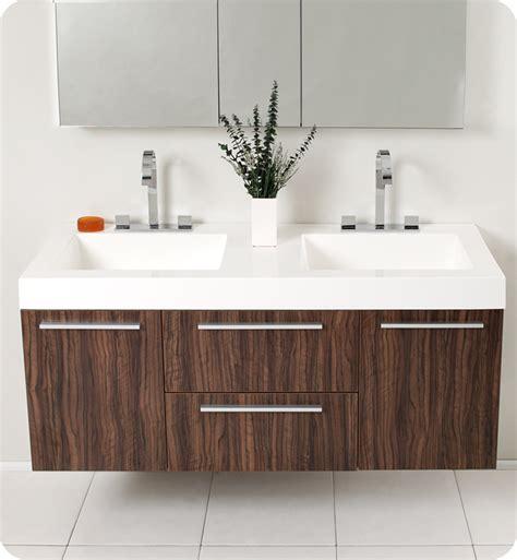 Modern Walnut Bathroom Vanity Fresca Opulento Walnut Modern Sink Bathroom Vanity W Medicine Cabinet Direct To You