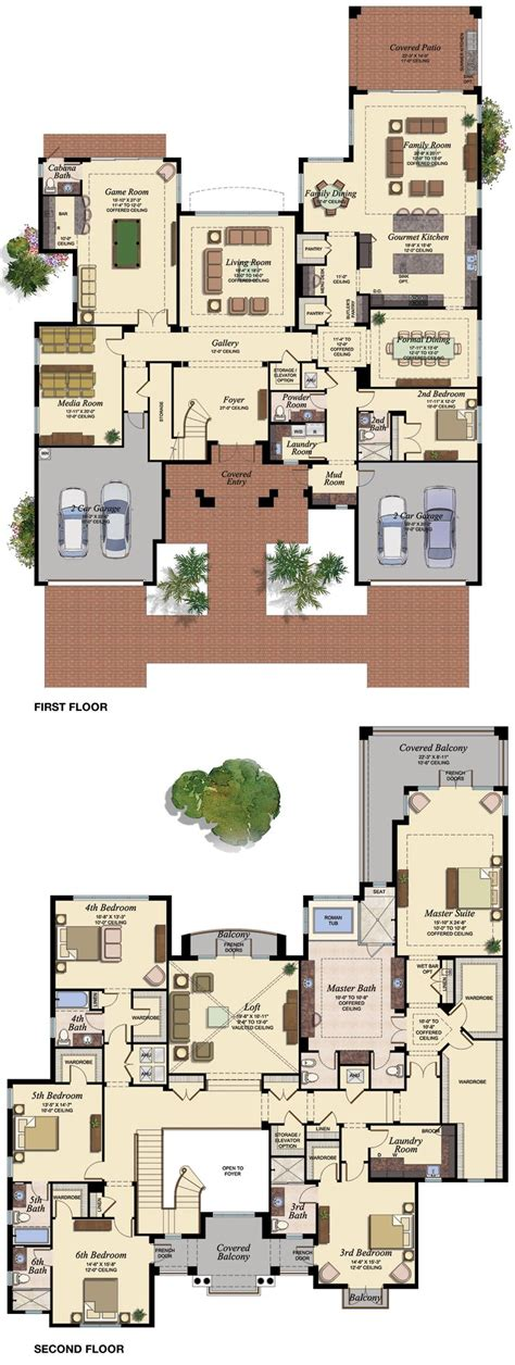 6 bed house plans 6 bedroom house plan home mansion