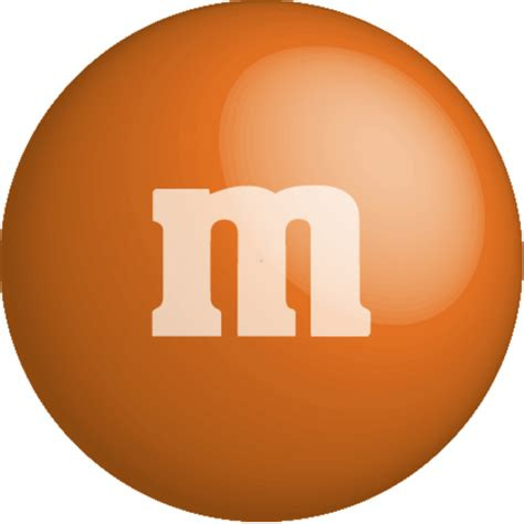 m m colors colour color chocolate m m orange icon