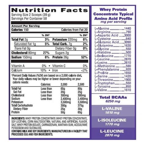 b protein nutrition facts eas 100 whey protein 2 lb