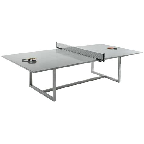 Vue Ping Pong Table With Stainless Steel Base For Sale At Dining Room Ping Pong Table