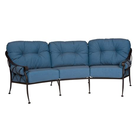 woodard patio furniture reviews woodard derby wrought iron crescent sofa 4t0064