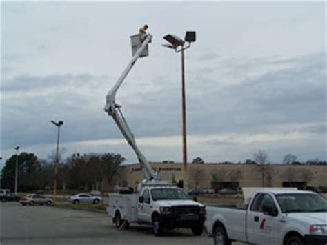 parking lot light repair parking lot light design maintenance in south carolina