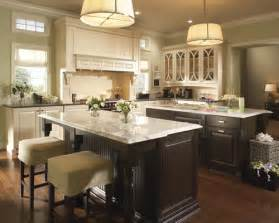 colored cabinets and different countertops
