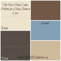 the best paint colours or colour palette for a man cave or