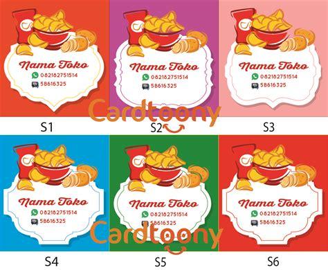 jual sticker stiker label nama toko kemasan makanan