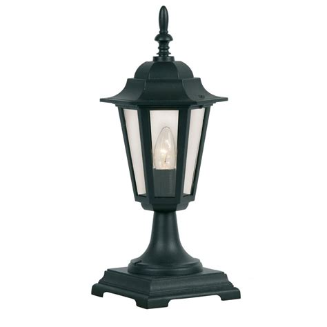 Best Outdoor Wall Lights 171 Ped Bk Haxby Outdoor Post Top Wall Light In Black