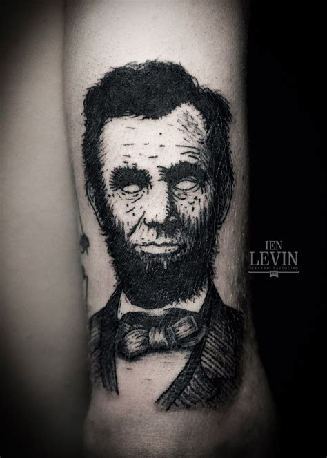 lincoln tattoo no apples of lincoln blackwork by ien levin
