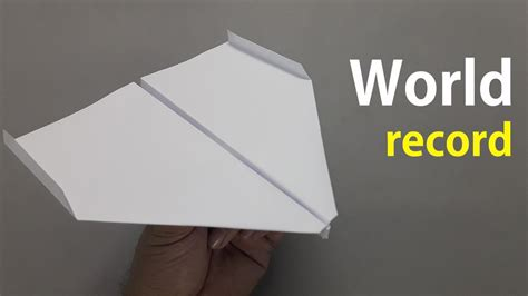 How To Fold The World Record Paper Airplane - how to fold the world record paper airplane