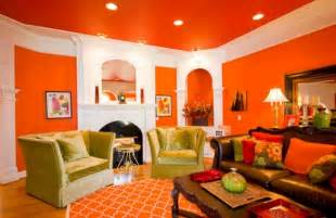 Lime green if you paint your room from wall to wall in citrus orange