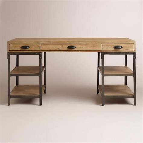 wood and metal desk metals desks and world