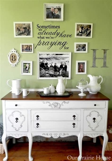 Our Prairie Home Sideboard Gallery Wall A Before After Prairie Buffet