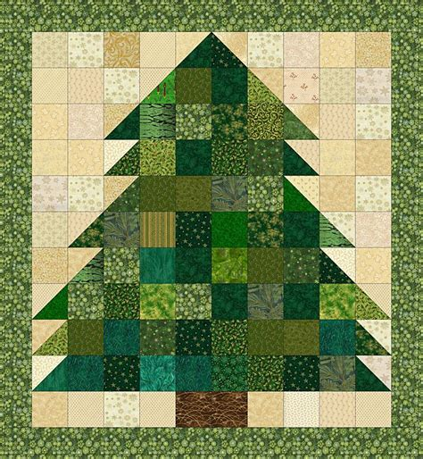 Patchwork Tree - free miniature quilt patterns