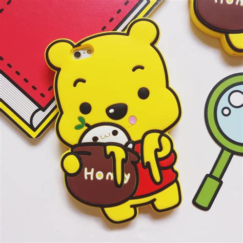 winnie the pooh rubber sts new silicone soft 3d winnie pooh phone rubber back