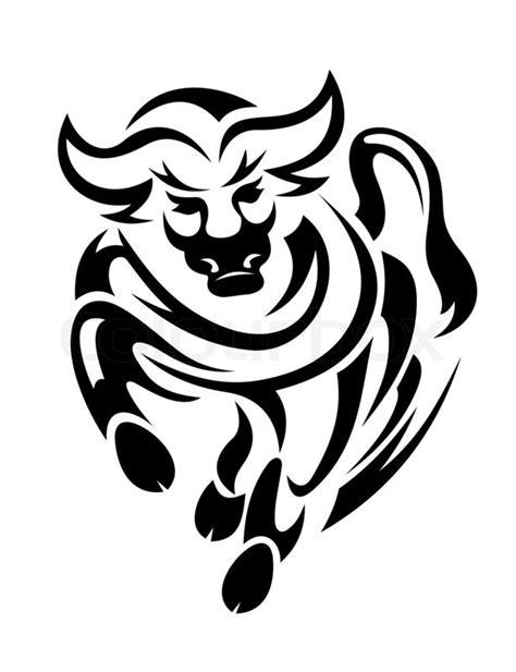 tattoo red bull logo tribal bull stockfoto colourbox