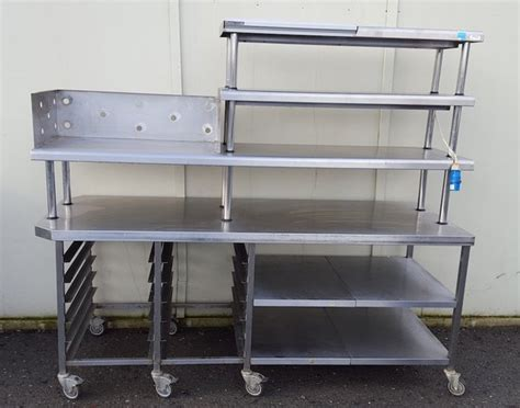 stainless steel chef table secondhand catering equipment heated gantries and chef s