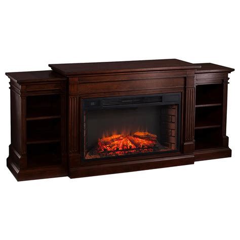 Low Profile Electric Fireplace by Southern Enterprises Boxborough 72 In W Widescreen