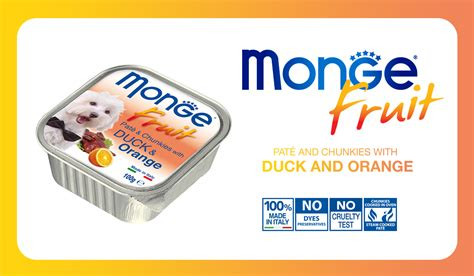 Monge Fruit Duck And Orange 100 G monge fruit pate and chunkies with duck and orange 100 g