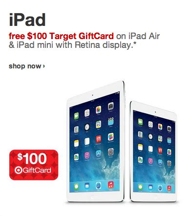 Target Gift Card With Purchase Offers - target offers 100 gift cards with purchase of select apple products iclarified