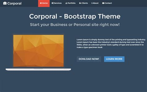bootstrap themes free one page corporal one page responsive bootstrap theme graygrids