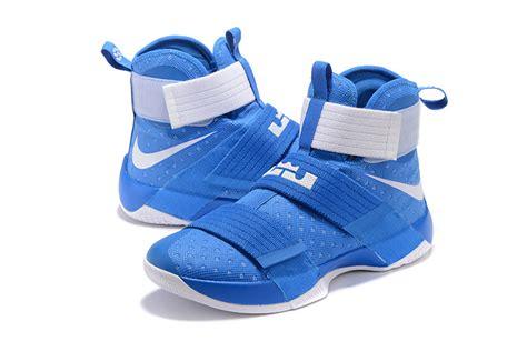 cheap lebron basketball shoes cheap lebron soldier 10 blue white basketball shoes