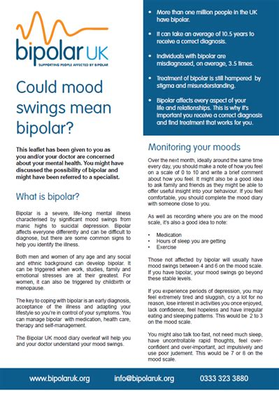 mental illness mood swings bipolar uk faqs information for family and friends