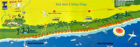 antalya map tourist attractions belek turkey travel guide