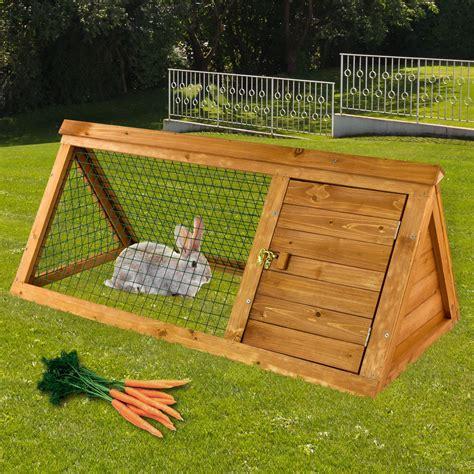 stall kaninchen freilauf freigehege mit unterschlupf hasen kaninchen stall
