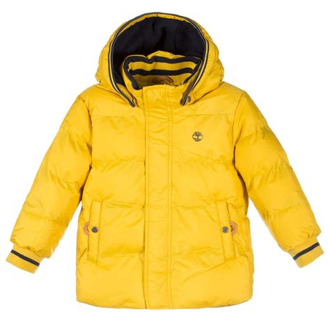 7 Jackets For Your Boy by Timberland Boys Yellow Puffer Jacket With