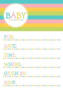 design free baby shower invitation templates to email