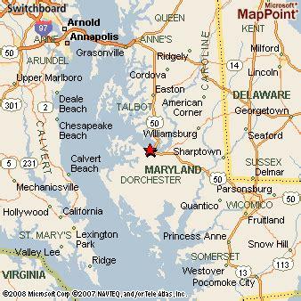 maryland area map cambridge maryland