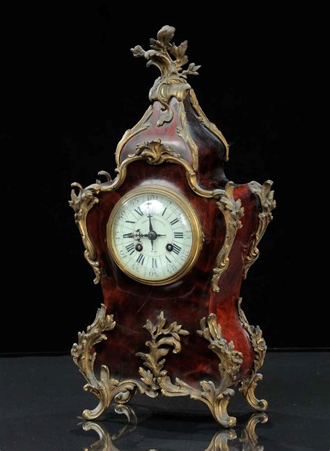 orologi da tavolo antichi vendita orologio da tavolo in legno laccato a finta tartaruga