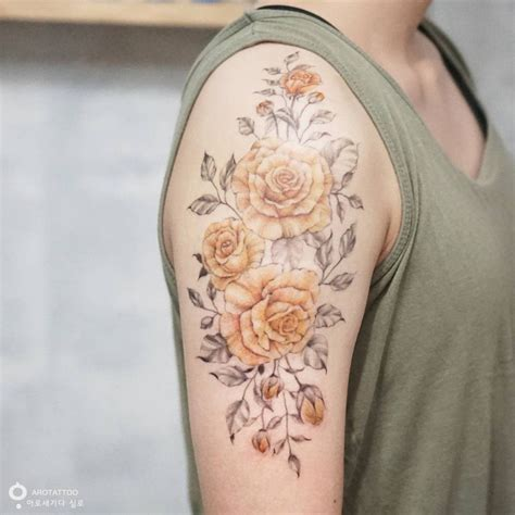watercolor tattoo yellow rose 105 sensational watercolor flower tattoos tattoomagz