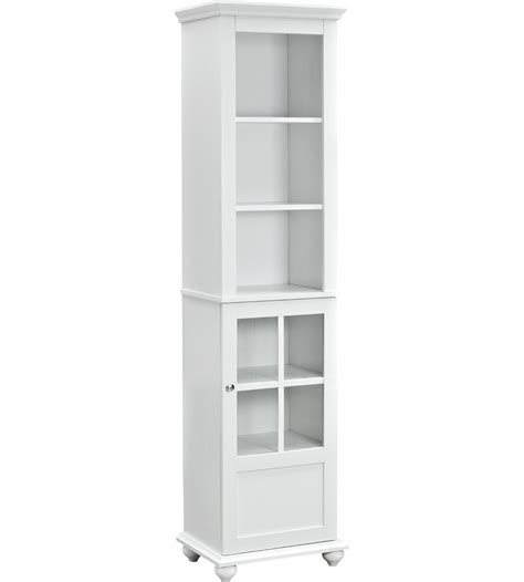 storage cabinet with glass door in pantry shelving